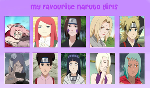 My Favourite Naruto Girls by IG0R179
