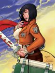 Commission: Mikasa (attack on titan) by 7caco