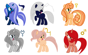 Space themed pony adopts CLOSED by SugarMoonPonyArtist