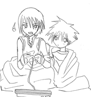 riku hogs the ps2.. by ShichininSlasher