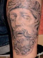 oliver's christ by undermyskinbodyart