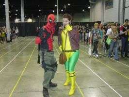 Deadpool And Rogue by Darth-Slayer
