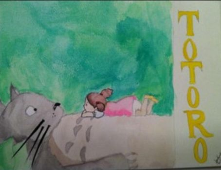 Totoro water color painting by The-Ninja-Rabbit