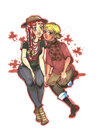 Autumn Girls by cap-o-rushes