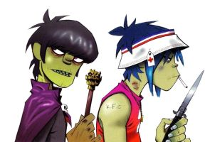 Murdoc and 2D photomanipulation by RockRaven-LG