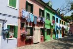 Painted houses Burano Venezia Italy by Meccaphi