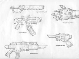 Imperial Weapons Sketches by carlos1170