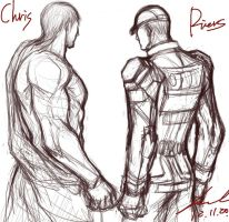 Second suits of Chris and Piers~ by myleel