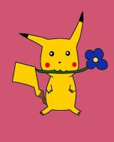 Pikachu with a Flower by Master3Foamy