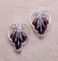 Victorian Mystery Earrings by Wiresculptress