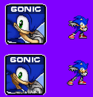 SSF2: Sonic and Sonic (Boom Version) Sprite by NSMBXomega