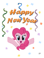 Pinkie wishes You a Happy New Year by unicodreamer