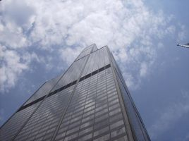 Sears Tower and sky by Vocaloid-J4M