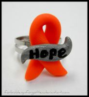 Self-Injury Awareness Ring by Forbiddenynforgotten