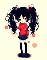 Rin Tohsaka Quick Sketch by rinrie