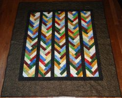 Strip quilt by quiltoni