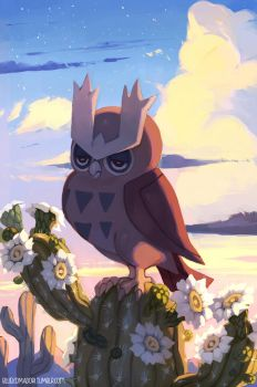 Noctowl by bluekomadori