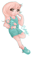 :Commission: Cortney Chibi by CuddlyBunneh