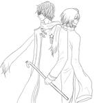 APH-China and Russia lineart 2 by minghii