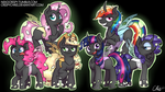 :Commission: Mane 6 As Changelings by NekoCrispy