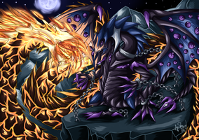 Commission-Malassa vs Abyssal Worm Emperor by LightEndDragon
