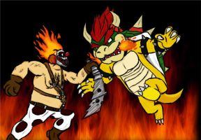 Bowser VS Sweet Tooth by Baka2niisan