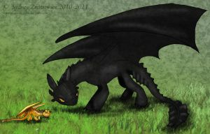 Toothless VS Terror by SunStateGalleries
