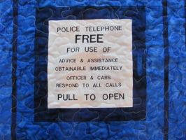 Sign from Tardis Quilt by quiltoni