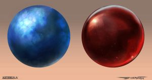 Material Study: 2/100- Blue Steel, Ruby by DylanPierpont