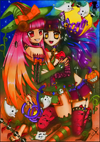 Happy Halloween by Celtius and Aimitsuki by Capolecos