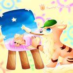 Painter Growlithe by lavaquil