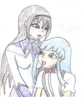 Homura and Rika by lady-warrior