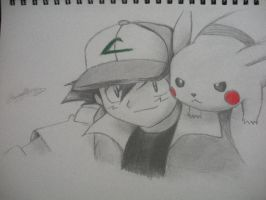 Ash Ketchum and Pikachu by Cinos619