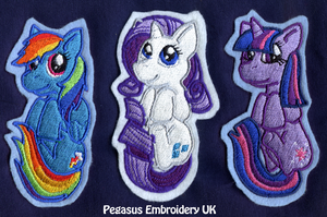Peeping Pocket Patches - Dash, Rarity, Twilight by GothyBeans