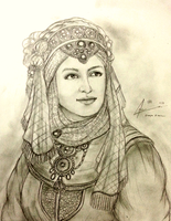 Sheika Ahu Durquba in Court Dress by Gambargin
