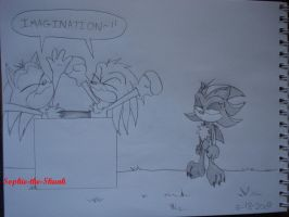 Sonic and Knux hav Imagination by Sophie-The-Skunk