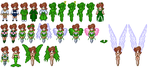 Sailor Jupiter Sprites by Honest-Beauty