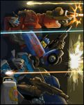 Nightbeat, Siren, and Hosehead by Astro-L