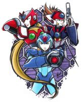MegamanX8 Hunters by cerae28