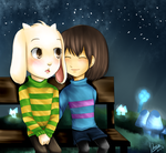 UNDERTALE - Asriel and Frisk by Dannysha