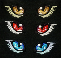 Sparkling embroidered eyes by goiku