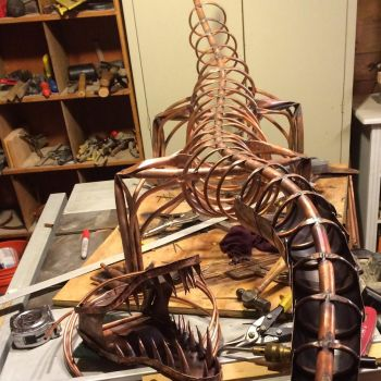 Copper Dragon wip by SickyGreen