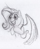 Quick Fluttershy sketch 4 by otto720