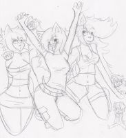 The gangs all here sketch by Zerovot