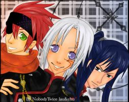 D.Gray Man Trio by NobodyTwice