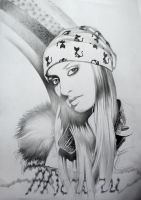 Nelly's Portrait (pencil on paper) by AdrianMoraru
