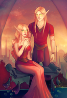 commission ysula and tendael by myks0