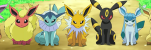 Eevee Evolutions by Shadouge525