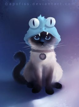 siamese cat by Apofiss