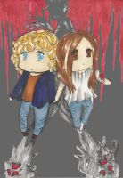 :c:  Nancy and Quentin by CelestialTea96